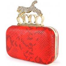 Ever Pretty prstenová kabelka se zvířecím vzorem červená