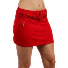 TopMode Sportovní sukně s ozdobnými zipy červená 63SE64 červená