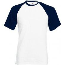 ba43719fb32 Fruit of the Loom Pánské tričko Baseball s krátkým rukávem 165 g m Bílá