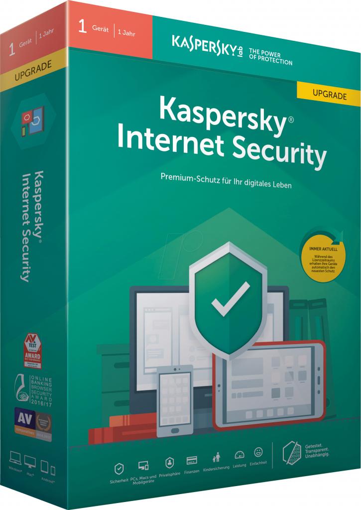 Kaspersky Internet Security multi-device 2017 1 lic. 1 rok update (KL1941XCAFR)