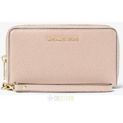 23d57463677d46 Michael Kors Mercer Large Leather Smartphone Wristlet Soft Pink ...