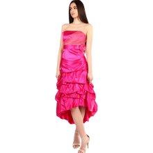 YooY dámské šaty bez ramínek růžová 7141c98337