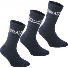 Everlast Crew Socks Navy Ladies 3 pack