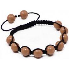 Náramek Shamballa s korálové perly Swarovski Elements BMB10.07