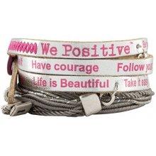 We Positive Stříbrný wrap náramek Nice Crazy Collection NI533 Fuxia