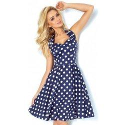 bdc3f45a836 Numoco originální šaty ve stylu pin up 30-13 tmavě modrá