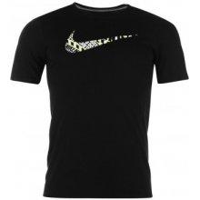 Nike Swoosh QTT T Shirt Mens Black