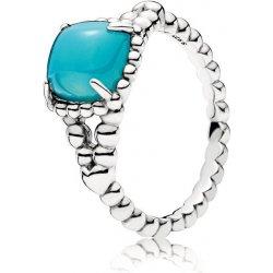 Pandora Stříbrný prsten s tyrkysovým kamenem 197188NSC od 1 450 Kč -  Heureka.cz 51b48e60b02