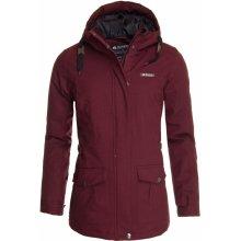 Erco Alasia dámská zimní bunda červená melange