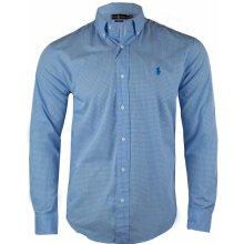 Ralph Lauren Pánská modrá košile - Modrá 976b9a9c0e
