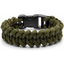 Trendhim zelený Paracord náramek Army Green AA7-4-12437