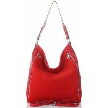 e59177c192 Vittoria Gotti kožené dámské kabelky XL červená