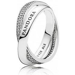 Pandora Stříbrný proplétaný prsten 196547CZ od 2 390 Kč - Heureka.cz f0ad80b4bef
