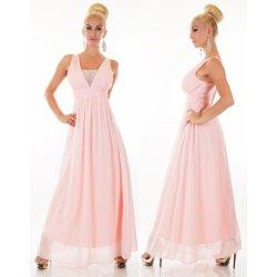 Dlouhé společenské šaty sv.růžové alternativy - Heureka.cz 2ff439f101e