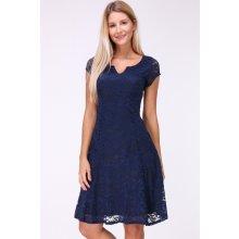 e6771144f0e4 Revdelle krajkové šaty Patricia Marine tmavě modrá