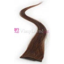 008 - Kaštanové, lidské vlasy k prodloužení - Clip-in, 50 cm