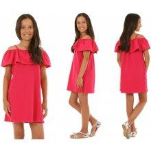 ec6224aa92ca Dívčí šaty Hispánky tmavě růžové