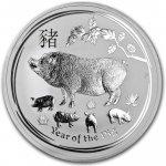 Lunární série II. stříbrná mince 10 AUD Year of the Pig Rok vepře 10 Oz 2019