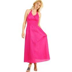 47bdf56a895 YooY dámské dlouhé letní šaty růžová od 299 Kč - Heureka.cz