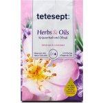 Tetesept Herbs&Oil Divoká růže a levandule koupelová sůl s pečujícími oleji 60 g + 15 ml