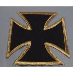 Dodavatel Choppers styl Motorkářská nášivka. Maltézský kříž se zlatým lemem.