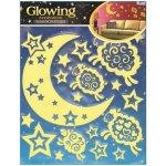 Pokojová dekorace svítící ve tmě měsíc s ovečkami 31 x 29cm 607, Anděl Přerov
