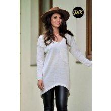 e13e6de5198 Fashionweek Báječný lehky pleteny luxusní svetr dámský V-neck JK1 SANDY  Béžový