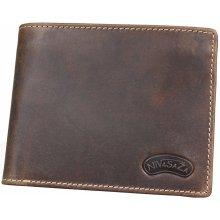 Nivasaža N212 HNT BR pánská kožená peněženka hnědá