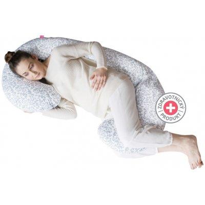 Těhotenský polštář Motherhood - šedé větvičky