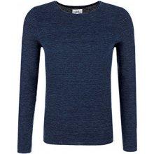 Q/S designed by s.Oliver Pánský modrý bavlněný svetr