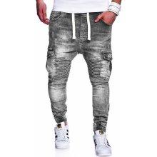 MyTrends pánské džíny Jogg-Jeans Biker RJ-2271 šedá 18373 8c2c9486d2