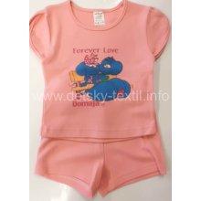 Komplet letní Tričko a kraťasy bavlna MYŠKY růžový