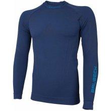 Brubeck pánské tričko s dlouhým rukávem Thermo navy blue 978cdac4bc