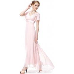 e569335c4b8 Růžové dlouhé svatební společenské šaty s rukávem na svatbu ples ...