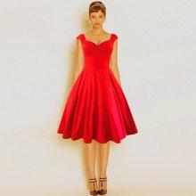 Dámské retro šaty Audrey kolová sukně 80200153-3 červená 36ff04dd3f