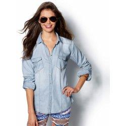 Džínová košile s dlouhými rukávy světle modrá alternativy - Heureka.cz cb0dbdfe0e