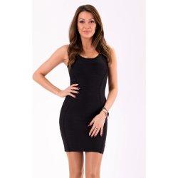 Dámské bandážové šaty bez rukávů krátké černá 04e112df45