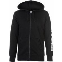 Adidas Linear Logo Full Zip Hoody Mens Black/White