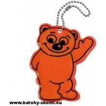 Přívěsek na klíče Compass reflexní BEAR oranžový