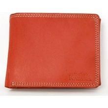 Klasická cenově dostupná kožená peněženka Kabana červená