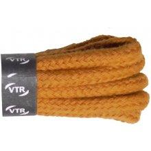 Kulaté žluté bavlněné tkaničky 70 cm