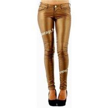 Blue Rags Dámské koženkové kalhoty luxusní 1121771 zlatá 0105342ed8