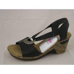 Dámská obuv Rieker 60662-00 black dámské sandály