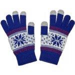 Nordic dámske rukavice na dotykový displej blue