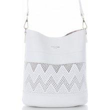 cfb4064bf6 David Jones dámské kabelky listonošky s kosmetikou ažurová Bílá