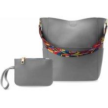 c8c17c464c8 Shopperka pytel 2 popruhy pásky aztécký vzor kosmetická kapsička komplet  šedá
