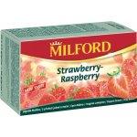 Milford ovocný čaj s příchutí jahod a malin 20 x 2,5 g