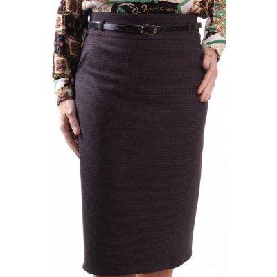 elastická sukně s páskem 1190 SAFFET černo-bordó
