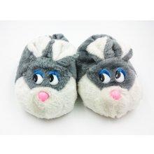 Dětské papuče králíček šedý