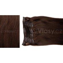 czVlasy.cz Clip in samostatný pás - odstín 2, délka 40 cm, hmotnost 10 gramů